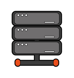 Computer servers icon image vector
