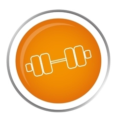 Dumbbells gym equipment vector