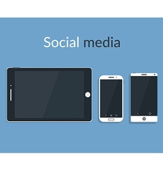 Flat design of electronic devices with dark vector