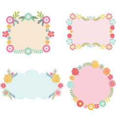Frame with Floral set vector image vector image