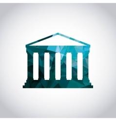 Greek temple icon italy culture design vector