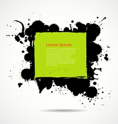 Green and black ink add text your space vector image vector image