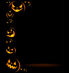 halloween party background with scary pumpkins vector image vector image