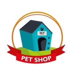 House dog pet shop vector