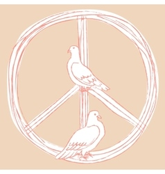 International day of peace pigeons vector
