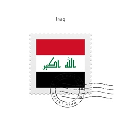 Iraq Flag Postage Stamp vector image vector image