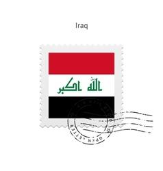 Iraq flag postage stamp vector