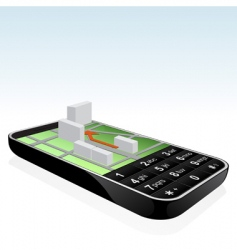 Mobile phone navigator icon vector