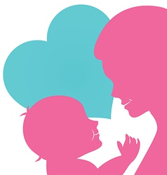 Mom with baby for Mothers day card vector image