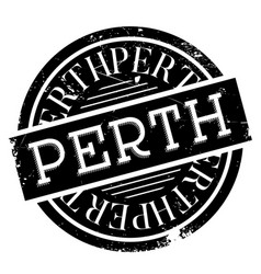 Perth rubber stamp vector