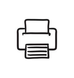 Printer sketch icon vector