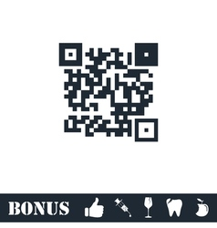 Qr code icon flat vector