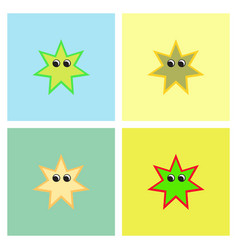 Sea star caribbean starfish set vector