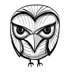 Smart owl education wisdom symbol vector