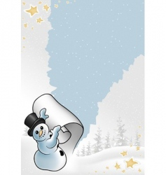 snowy Christmas vector image vector image