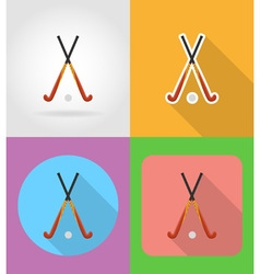 sport flat icons 04 vector image