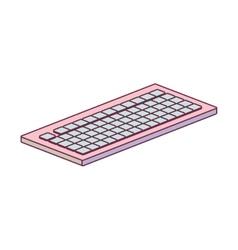 Tech computer wireless keyboard minimalist vector