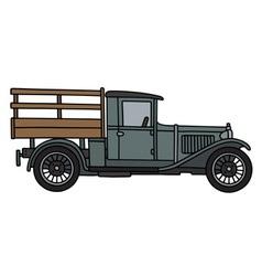 Vintage gray truck vector image vector image