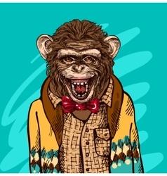 sketch of monkey vector image