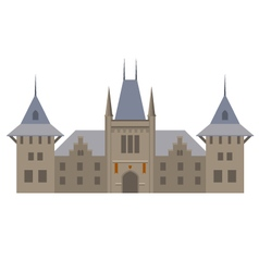Medieval luxurious palace - castle with towers vector