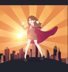 Superhero business women concept vector