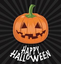 Pumpkin for halloween on background vector