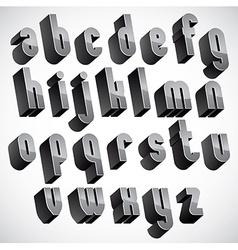 3d geometric bold font monochrome dimensional vector image