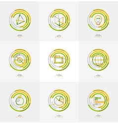 Minimal thin line design web icon set vector