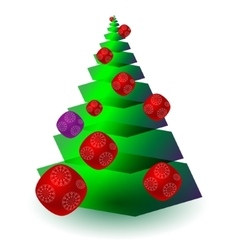Christmas ftree with toys in vector