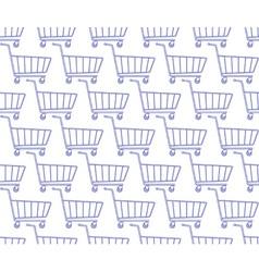 Shopping cart pattern vector