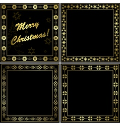 black and gold frames - set vector image