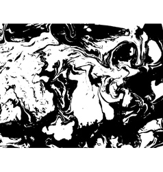 Black and white abstract background Liquid marble vector image vector image