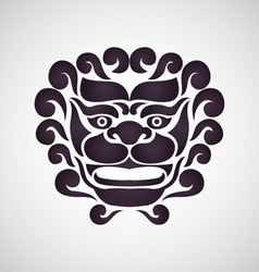 Chinese lion logo vector image