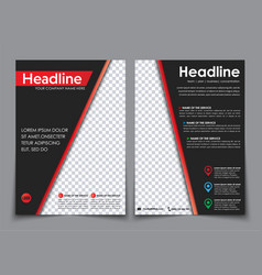 design flyers a4 black with red elements vector image