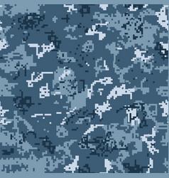 Digital urban camouflage seamless pattern vector