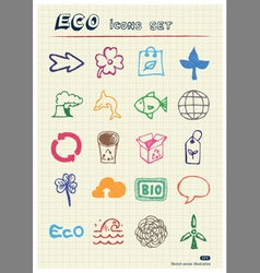 Ecology and environment web icons set vector image