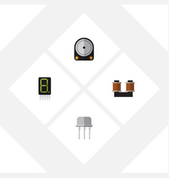 Flat icon appliance set of hdd display resist vector