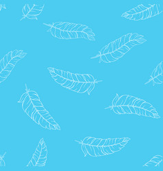 Hand drawn feathers pattern vector