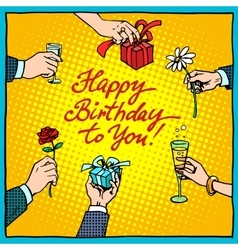 Happy birthday to you gifts congratulations vector image vector image