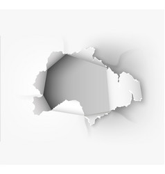 hole torn in ripped paper vector image vector image