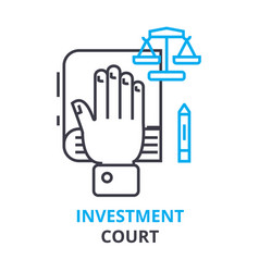 investment court concept outline icon linear vector image vector image