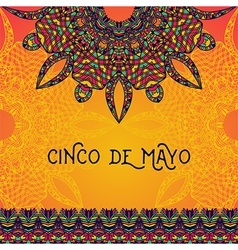 invitation for cinco de mayo festival vector image vector image