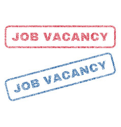 Job vacancy textile stamps vector