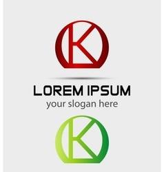 Letter k logo icon vector