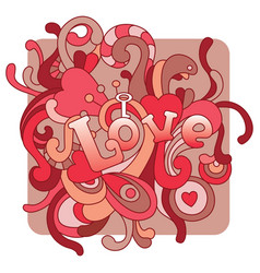 love for valentines day vector image vector image