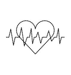medical heart beat cardiology diagnosis vector image vector image