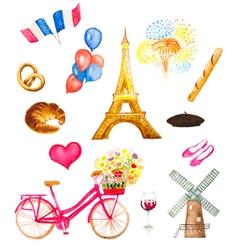 Paris icons vector