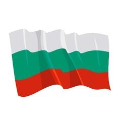 Political waving flag of bulgaria vector