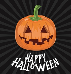 Pumpkin for Halloween on background vector image vector image