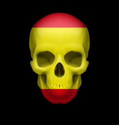 Spanish flag skull vector